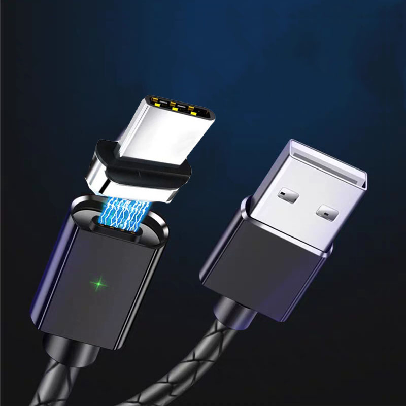 磁気ケーブルマイクロ Usb タイプ C 3 1 データライン急速充電ライン Iphone の Huawei 社 - title=