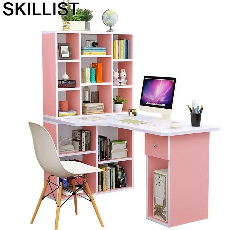 Standing Bed Escritorio Office Para Notebook Small Scrivania Ufficio Bedside Tablo Laptop Stand Mesa Desk Table With Bookcase