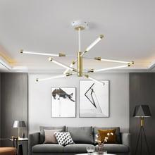 Postmodern Acrylic Round Tube LED Chandelier Lighting for Living Room Restaurant Bedroom Indoor Decor Kitchen Fixtures Luminaire