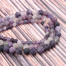 Hot?Sale?Natural?Stone?Frosted Amethyst15.5?Pick?Size?4/6/8/10/12mm?fit?Diy?Charms?Beads?Jewelry?Making?Accessories
