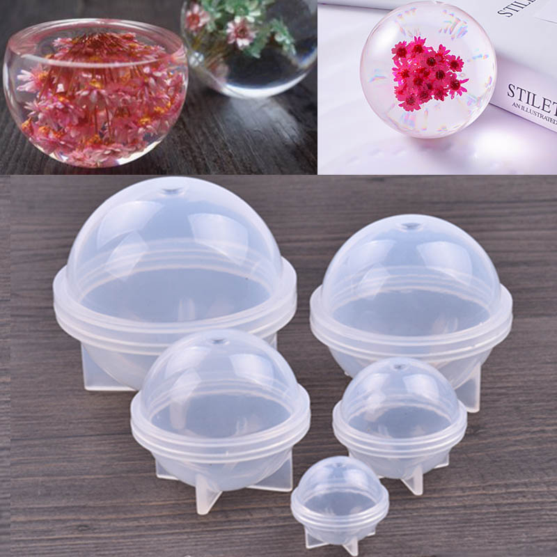 1 Pieces Handmade Epoxy Silicone Mold 3D Planet Ball Craft Mold Making Tool Mould Uv Resin Epoxy Dried Flower Resin Gift 20/30/4