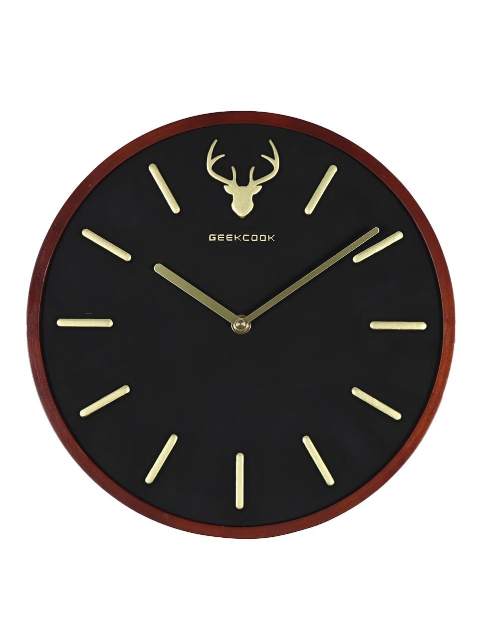 Luxury Stylish Wall Clock Wood Modern Design Minimalist Nordic Wall Clock Silent Reloj Pared Grande Stylish House Decor  SS60WC
