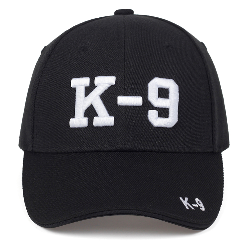 New K-9 Letter Embroidery Baseball Cap Spring And Summer Cotton 100% Caps Men And Women Fashion Hip Hop Hat Outdoor Sun Hats