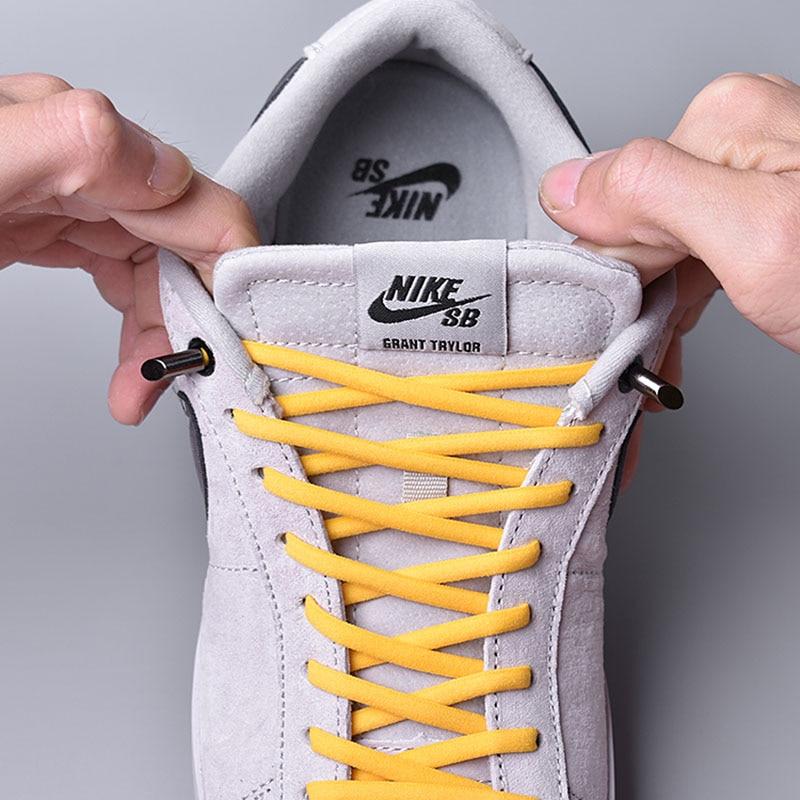 1 Pair 15 Colors Semicircle Elastic Shoelaces No Tie Shoe Laces Kids Adult Sneakers Quick Shoelace Unisex Lazy Laces