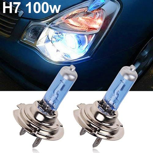 New Hot 2Pcs H1/H4/H7 55W/100W Xenon Gas Halogen Headlight White Lamps 12V 5000K Bulbs Carros Exterior Automobile Car