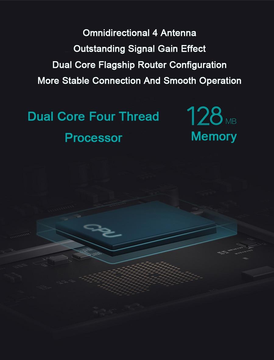 Xiaomi roteador 4 antena fibra 2.4g 5g