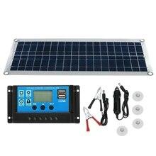 30 Вт двойной USB Гибкая солнечная панель комплект+ 30A контроллер+ зажим для наружного автомобильного зарядного устройства