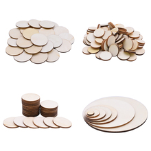 Natural Blank Round Wood Slices Circles Unfinished Wooden Craft Disks DIY Painting Scrapbooking Carft Wedding