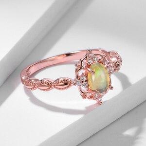 Image 3 - Kuololit Natürliche Opal Edelstein Ringe für Frauen 925 Sterling Silber Ring Hochzeit Handgemachte Engagement Band Teil Geschenk Edlen Schmuck
