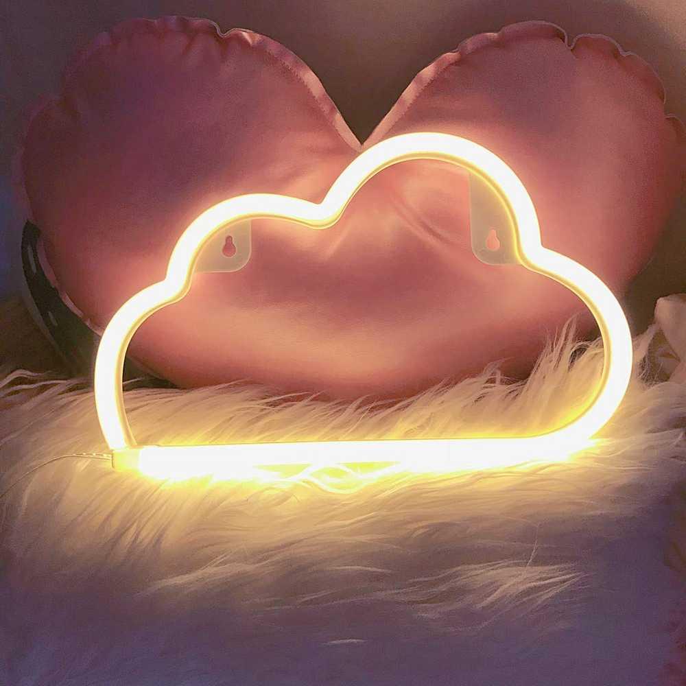 Led Neon Wand Licht Batterie oder USB Betrieben Wolke Lampe Licht up für Die Home Kinder Zimmer Bar Festliche Party weihnachten Hochzeit