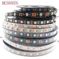 DC 5V 5 m/lote WS2812B RGB tira de led 30/60 leds/m ws2811ic incorporado individualmente direccionable inteligente de