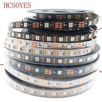 DC 5V 5m/lots WS2812B RGB led strip 30/60leds/m ws2811ic Built-in individually addressable smart strip