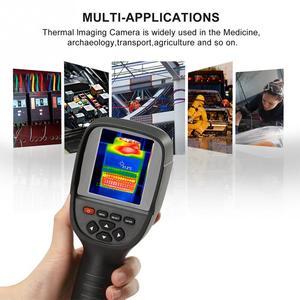 Image 4 - HT 18 ręczny IR cyfrowy kamera termowizyjna kamera detektora podczerwieni temperatura ciepło FLIR wysokiej rozdzielczości skaner diagnostyczny samochodu