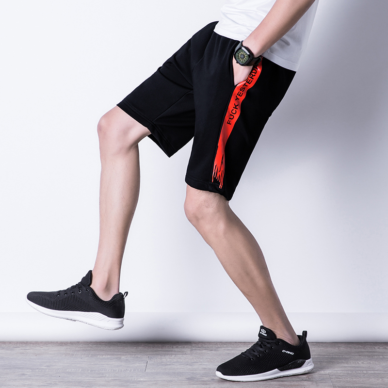 Summer Casual  Beach Shorts Men Exercise Elastic Waist Sim Fit Solid Knee Length Bermudas Masculina Plus Size Plaid Shorts