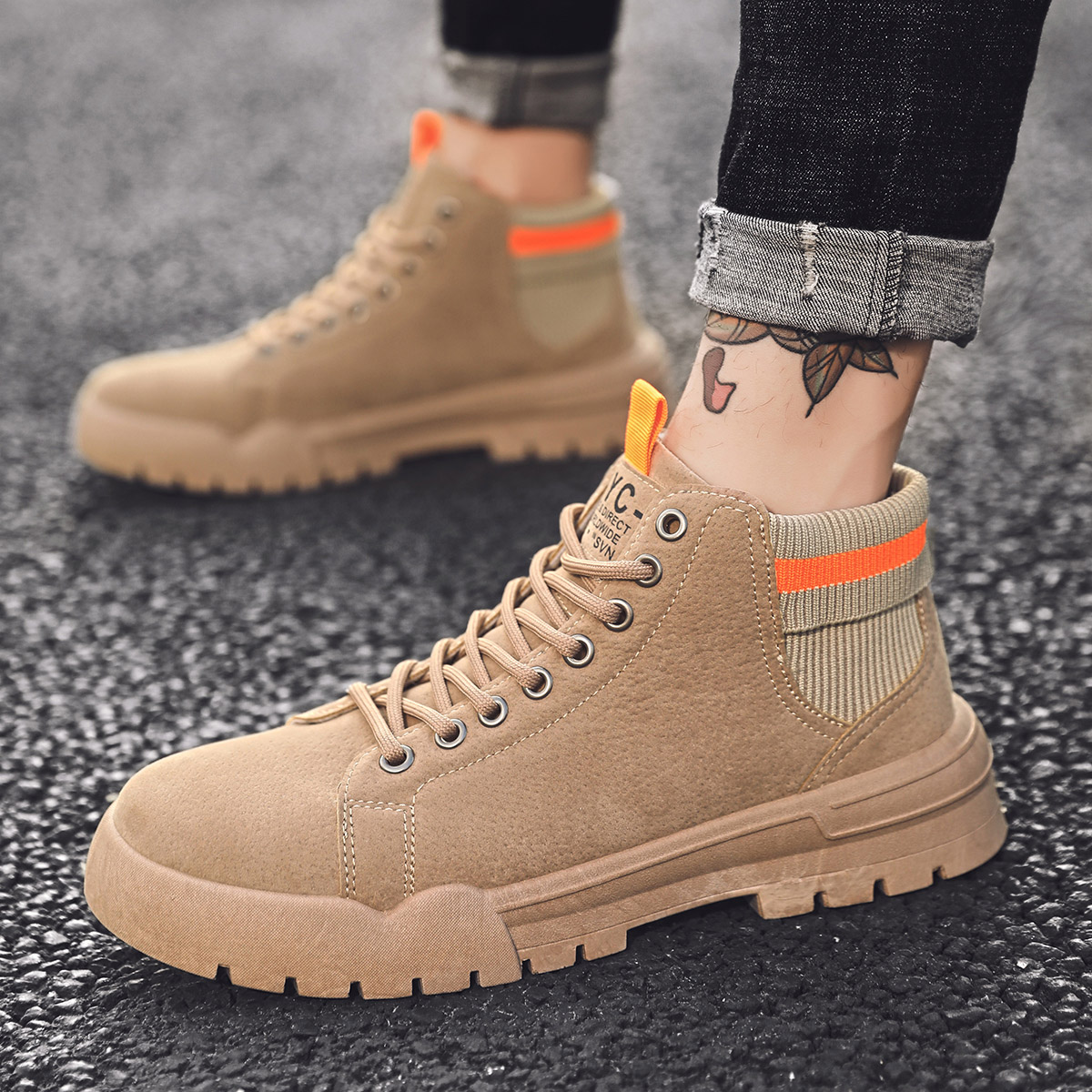Fashion Plus Cotton Martin Boots Men Winter Sneakers Bota Coturnos Masculino Mens Shoes Casual Male Warm Comfortable Work Boots