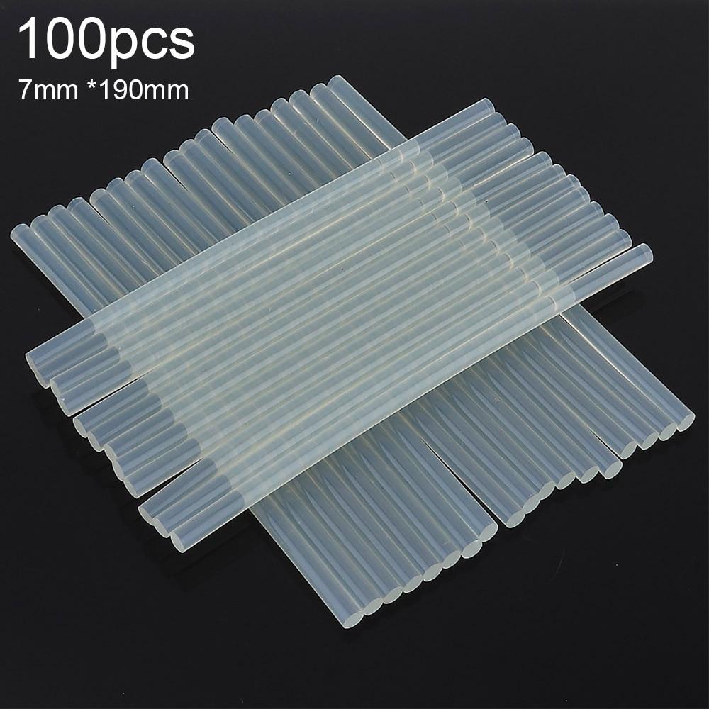 100pcs/lot Transparent Hot Melt Gun Glue Sticks Gun Adhesive DIY Tools For Hot-melt Glue Gun Repair Accessories 7mmx190mm