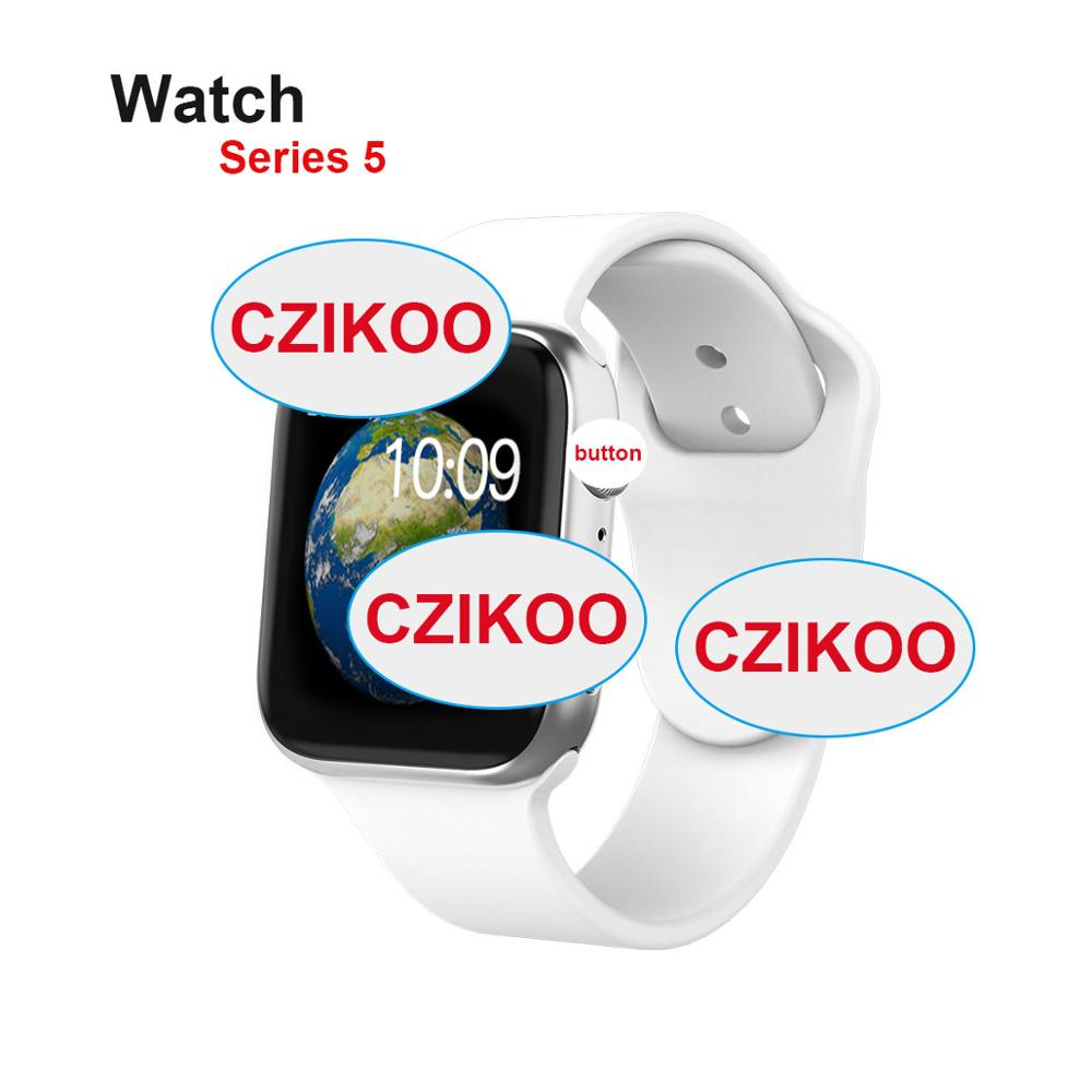iwo <font><b>12</b></font> <font><b>Smart</b></font> <font><b>Watch</b></font> Series 5 Clock Sync Notifier Connectivity Smartwatch with Heart Rate Monitor Facebook for iphone Android image