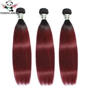 1B 99J Burgundy Red Bundles 1B 27 30 Color Brazilian Straight Human Hair Weave Bundles Extension Remy Colored Bundles Weave Deal(China)