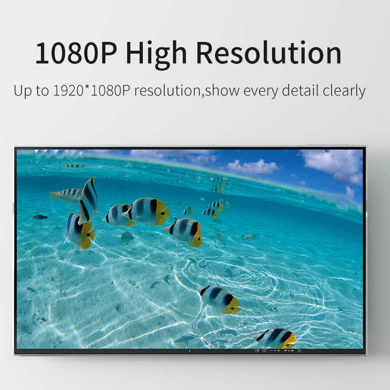 GCX ديسبلايبورت إلى VGA محول الفيديو 1080P 60 هيرتز عالية الجودة من الذكور إلى الإناث عرض ميناء DP إلى VGA مهائي كابلات المنشط