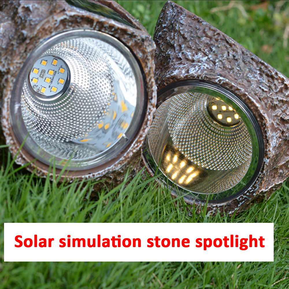 Imitation Stone Solar Light LED Buried Waterproof Resin Solar Lawn Lamps Induction Led Yard Lights For Outdoor Garden Decoration