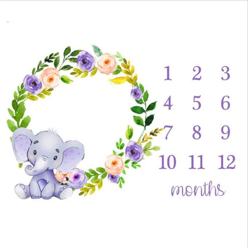 Cute Baby Play Mats Infant Portray Blanket Infant Milestone Photo Props Background Cloth Kids Bed Room Decor Photo Accessories | Happy Baby Mama