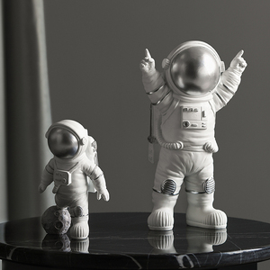 Image 5 - Modern Astronaut Sculpture Resin Figure Statuetes Spaceman Abstract Statue Home Decoration Accessories Craft figurine Decor