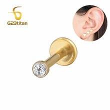G23titan, белая циркониевая титановая губная серьга, серьги для губ, пирсинг для ушей, 16 г, внутренняя резьба, серьги-гвоздики, модные украшения д...