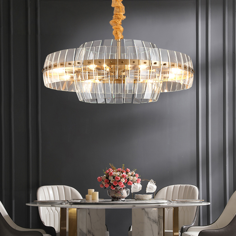 Living Room Chandelier After Modern Minimalist Nordic Creative Lighting Restaurant Designer Villa Light Luxury Bedroom Crystal