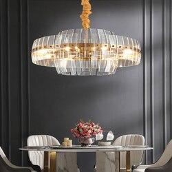 Żyrandol do salonu po nowoczesnym minimalistycznym Nordic kreatywne oświetlenie restauracja projektant willa światła luksusowa sypialnia kryształ w Wiszące lampki od Lampy i oświetlenie na