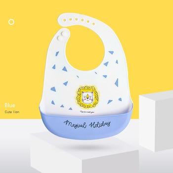 Oil-proof Lunch Drool Aprons Silicone Breastplate Baby Bib Waterproof Infant Bandana Bibs Feeding Burp Cloth 32.5x22.5cm