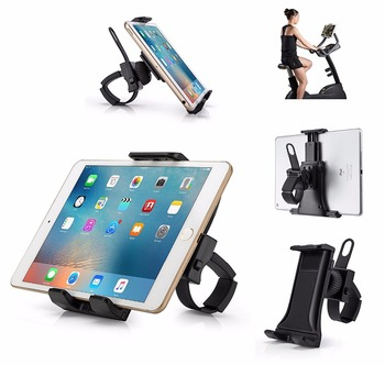 Tablet Flexible Buckle Mount Holder Indoor Gym Handlebar on Treadmill Exercise Bikes Mobile Phone Bracket for iPad iPhone - discount item  40% OFF Tablet Accessories
