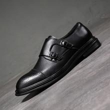 Men Dress Scarpe di Cuoio Formali Per Il Tempo Libero Degli Uomini di Affari Oxfords Scarpe Da Festa di Nozze Scarpe Brogue
