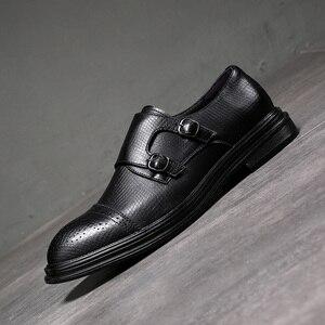 Image 1 - Men Dress Scarpe di Cuoio Formali Per Il Tempo Libero Degli Uomini di Affari Oxfords Scarpe Da Festa di Nozze Scarpe Brogue