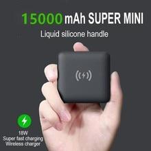 Wireless Power Bank 15000 мАч 10 Вт Беспроводное зарядное устройство Power Bank зарядное устройство PD USB 18 Вт, быстрая зарядка, внешняя батарея для Iphone 12max Pro м...