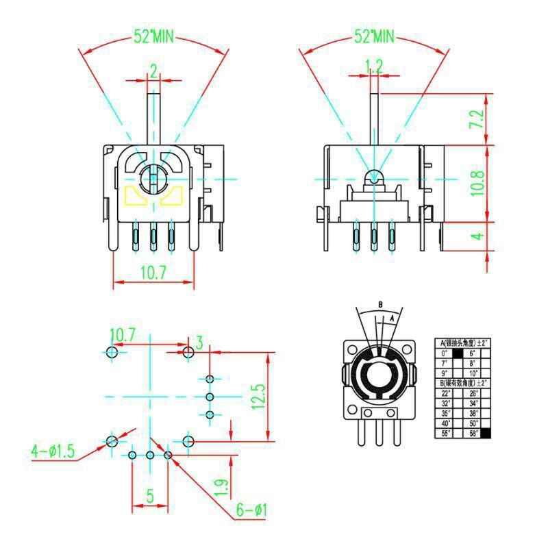 2 قطعة عصا تحكم تناظرية ثلاثية الأبعاد محور وحدة الاستشعار Wthout التبديل لإصلاح PS4 Contoller