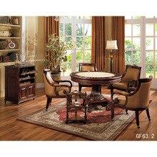 Игровой Хрустальный маленький обеденный стол и приставной шкаф, Миниатюрный стол, а также стол для отдыха и отдыха, GF63