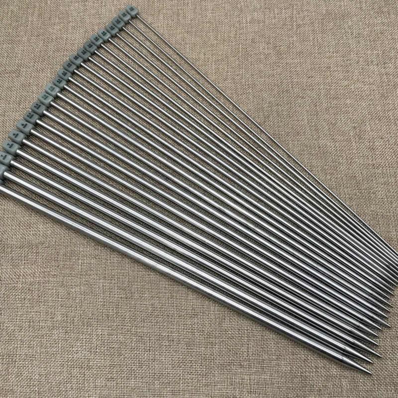 22 Buah 35 Cm Panjang Penuh Warna Stainless Steel Lurus Single Menunjuk Jarum Rajut Crochet Kait Merajut Kerajinan Tools 2.0-8.0 Mm