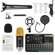 BM-900 Mikrofon Mischer V10X Pro Soundkarte Kondensator Spiel bluetooth Audio dj Live Broadcast MIC USB OTG Aufnahme Professionelle