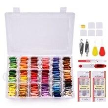108 Colors/Set Cross Stitch Embroidery Thread Felting