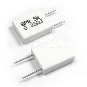 Image 5 - 100 pièces BPR56 5W 0.1 0.15 0.22 0.25 0.33 0.5 ohms Non inductif Céramique Résistance 0.1R 0.15R 0.22R 0.25R 0.33R 0.5R