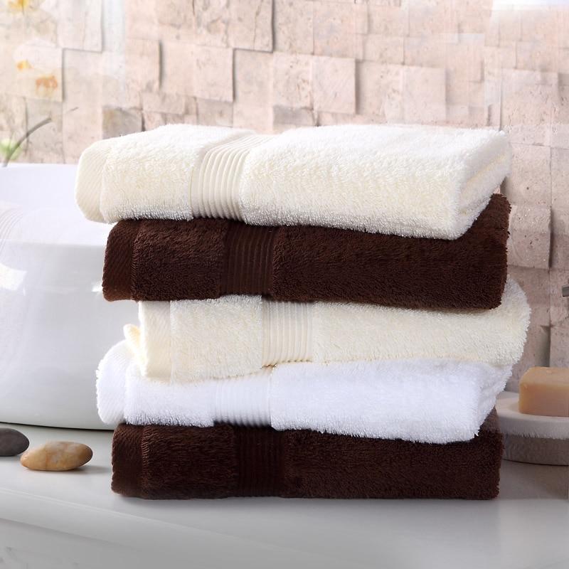 Salle De bain coton serviette ensembles haute qualité visage serviette séchage cheveux rayé Toallas Toalha De Banho produits ménagers JJ60MJ
