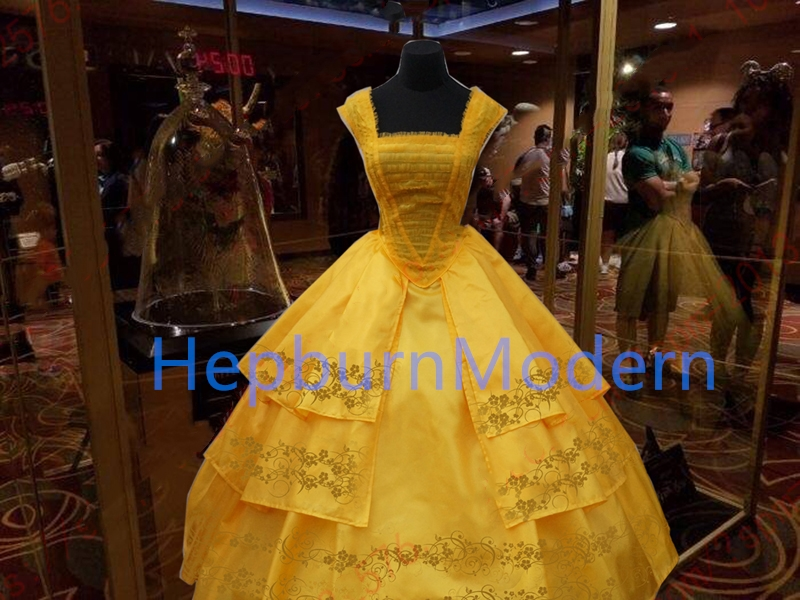 2017 film and television reality version beauty and Beast Disney bell princess skirt Cosplay clothing children image