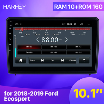 Harfey car GPS Radio Android 9.1 10.1 inch for 2018 2019 Ford Ecosport With HD Touchscreen support Carplay Backup camera image
