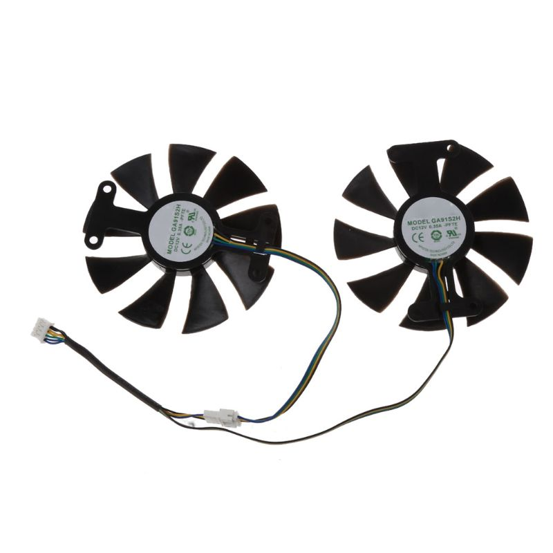 GA91S2H DC 12V 0.35A 4Pin Cooler Fan Replacement For Zotac GTX1060 GTX950 GTX1050Ti Graphics Card Cooling Fan image
