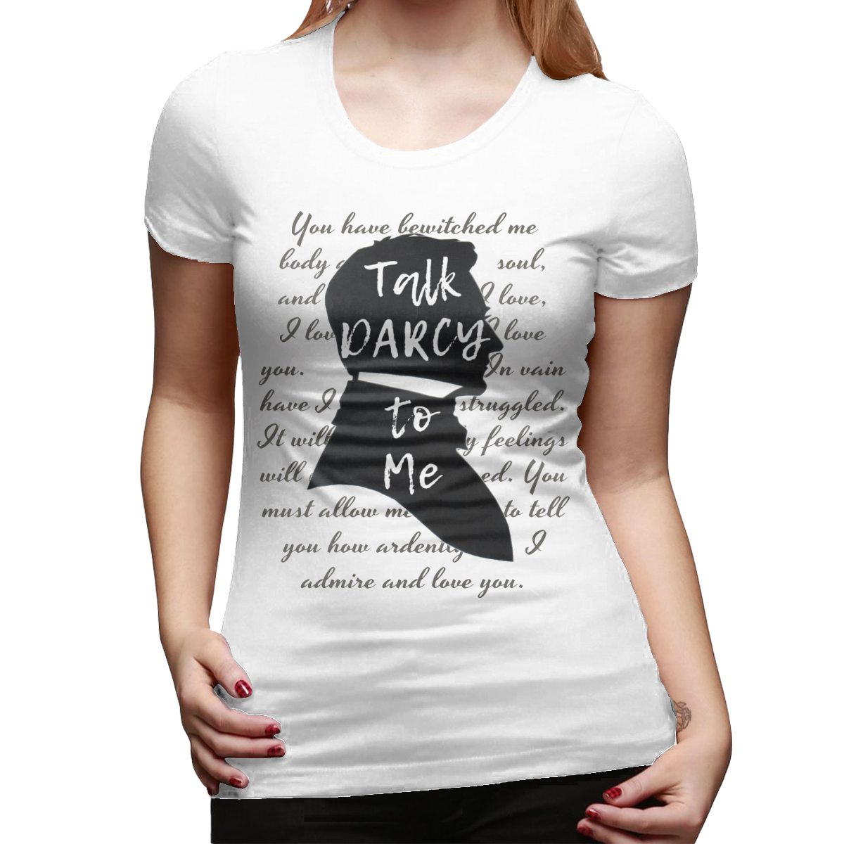 Jane Austen T-Shirt Literary Gift Jane Austen Funny Book Lover T Shirt Cotton Short Sleeve Women Tshirt Ladies Tee Shirt