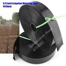 Fita de água fita de spray macia fina de 10 ~ 100m, fita de irrigação de agricultura, fita macia para sistema de irrigação de fazenda 3/4mm mangueira de rega para gramado de jardim