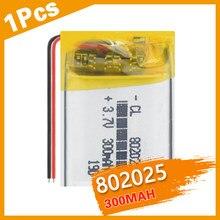 3.7V 802025 Lithium polymère grande capacité Rechargeable 300mAh li-po cellule pour appareil Portable Mp3 dispositif de surveillance sans fil
