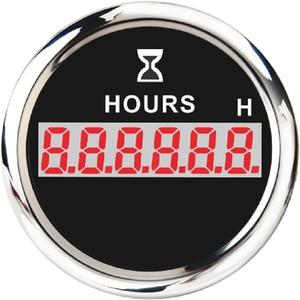 Image 2 - 52mm Digital Hour Meter Universal Hourmeter Gauge Fit for Car Boat Engine Yacht Motorcycle Marine Red Backlight 9 30V