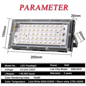 Image 2 - 4 sztuk 50W LED światło halogenowe AC 220V 240V projektor IP65 reflektor reflektor LED lampa uliczna światło zewnętrzne oświetlenie