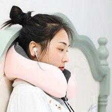 Подушка для путешествий, для самолета, автомобиля, офиса, подушки для сна, u-образная подушка для поддержки головы, подбородка, подушка с эффектом памяти, подушка для шеи, Шейная подушка